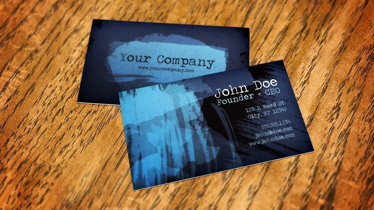 A quick way to Create Business Card Mockups - Effortless Web
